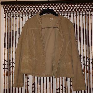 Jackets & Blazers - st. john's bay beige jacket